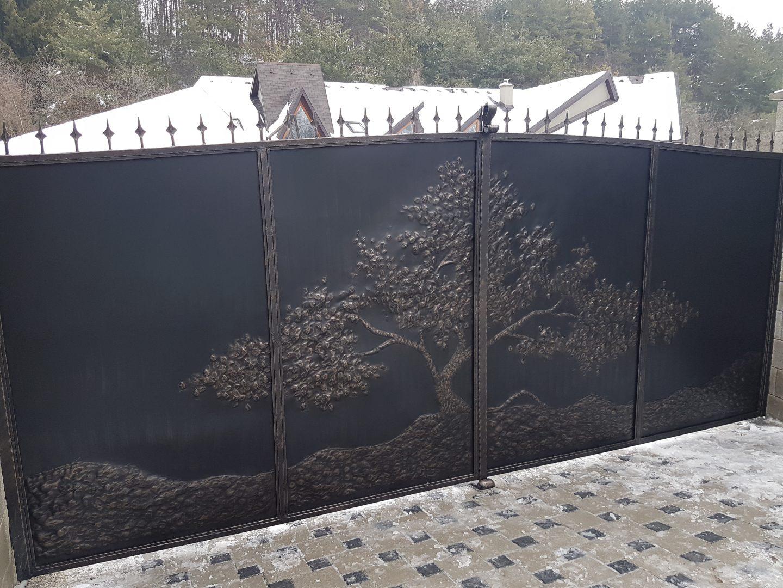 Helius.sk - kovaná brána plná - R29
