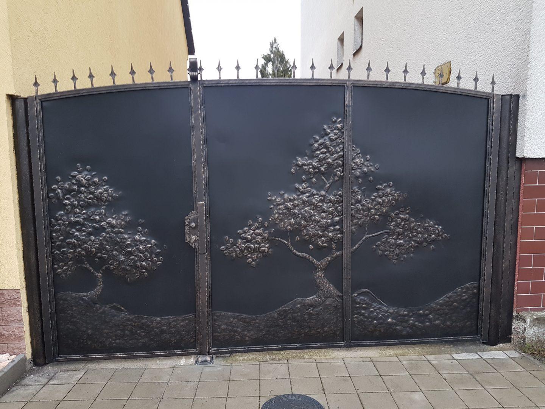 Helius.sk - kovaná brána plná - R50