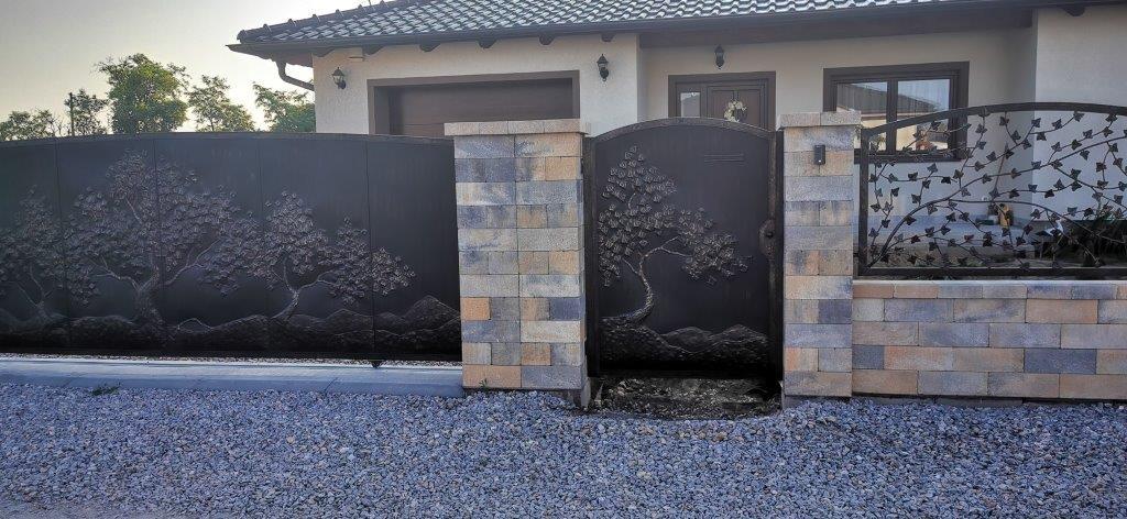 Helius.sk - kovaná brána plná - R57