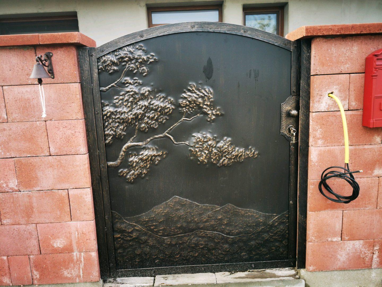 Helius.sk - kovaná brána plná - R61